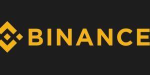 logo giełdy binance czarno pomarańczowe napis nazwa giełdy