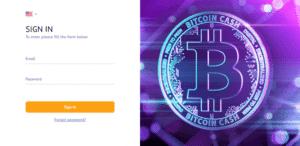 fioletowy znak bitcoina logowanie