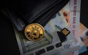 portfel gotówka moneta bitcoin