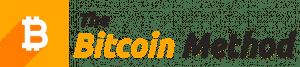 logo kryptobota trzy słowa czarno pomarańczowy napis symbol bitcoin