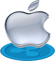 apple-logo-srebrne-dół-logo-ripple-cień