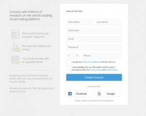 okno rejestracji platforma zakupu ethereum