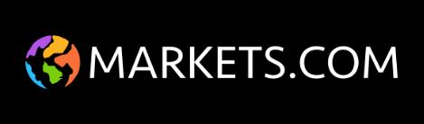 czarne tło kula ziemska kolorowa biały napis markets.com