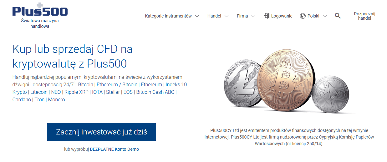 plus500 możliwość wymiany walut trzy kryptomonety bitcoin litecoin ethereum