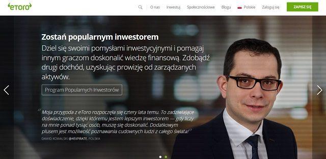 Dawid Kowalski inwestor eToro opinie witryna internetowa