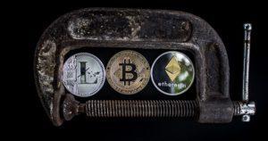 litecoin bitcoin ethereum zabezpieczone zniszczone urządzenie sprężynka antena