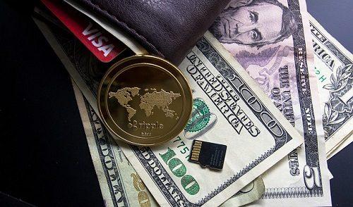 portfel pieniądze kryptowaluta ripple wallet sprzętowy biurko