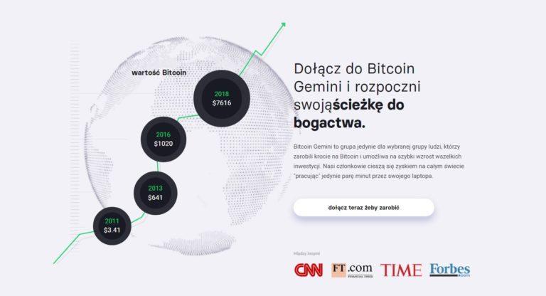 zarabiaj kryptorobot bitcoin gemini sposób dochód pasywny infografika