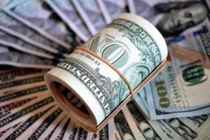 Banknoty dolary pieniądze
