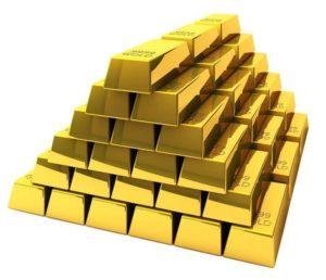 Sztaby złota piramida zdjęcie gold