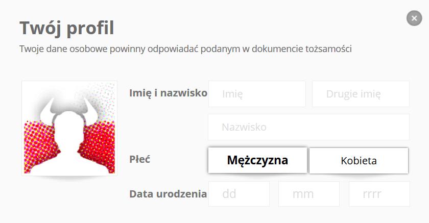 eToro szczegóły profilu formularz Forex