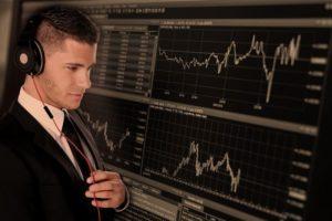 Trader handlowiec biznesmen