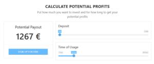 BitQT kalkulator zysków BTC euro