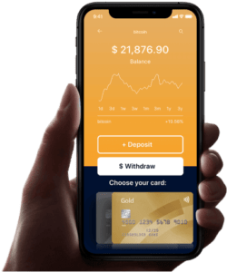 Bitcoin Up mobile view on smartphone