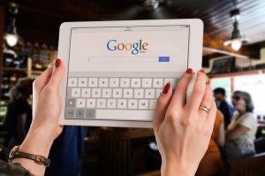 Przeglądarka Google na tablecie