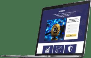 Podgląd widoku aplikacji Stellar Profit na laptopie