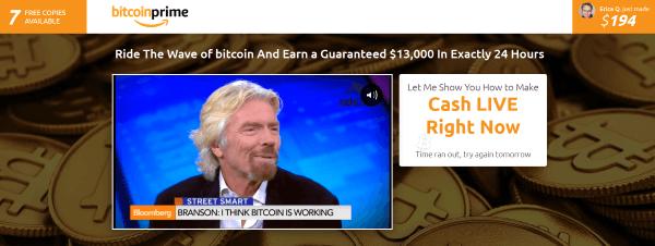 Bitcoin Prime strona domowa aplikacji