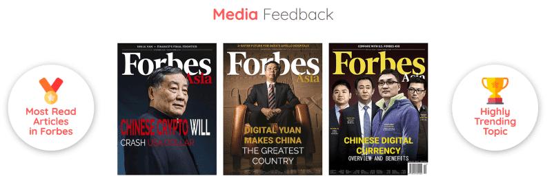 Yuan Pay Group okładki znanych czasopism
