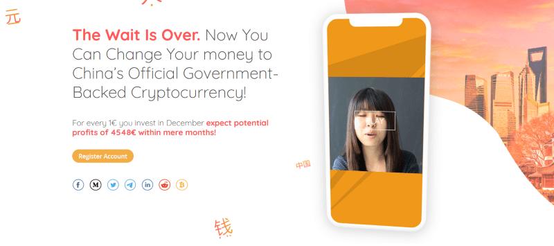 Strona główna aplikacji Yuan Pay Group